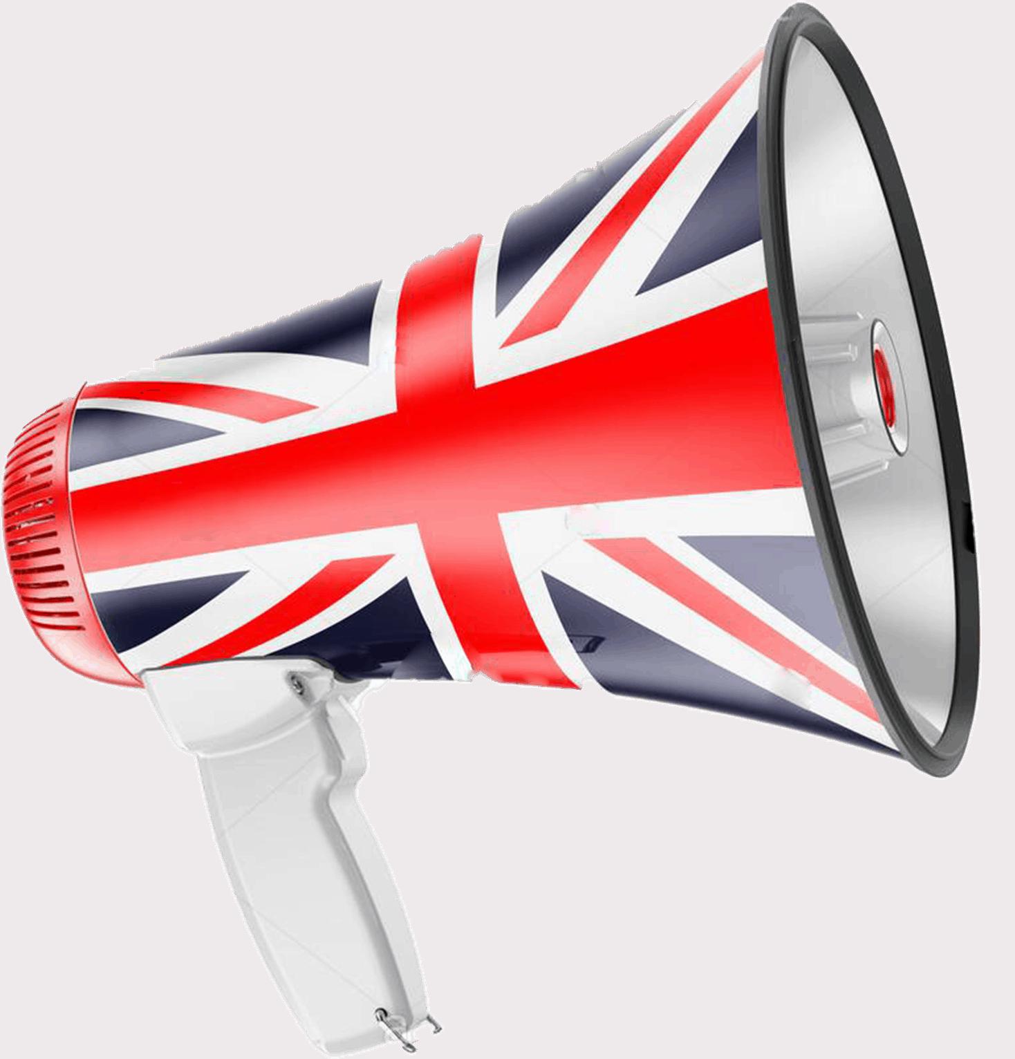 A Very British Megaphone